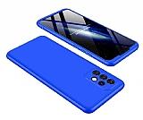 Zore GKK Ays Samsung Galaxy A32 4G 360 Derece Koruma Mavi Rubber Kılıf