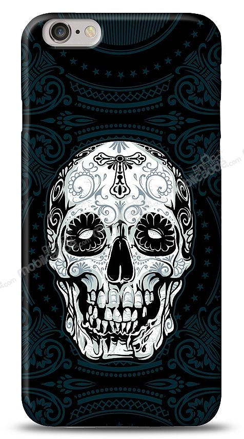 iPhone 6 Plus Black Skull Kılıf