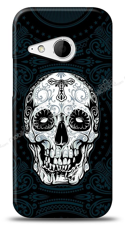 HTC One mini 2 Black Skull Kılıf