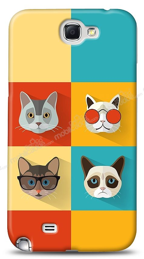 Samsung N7100 Galaxy Note 2 Four Cats Kılıf