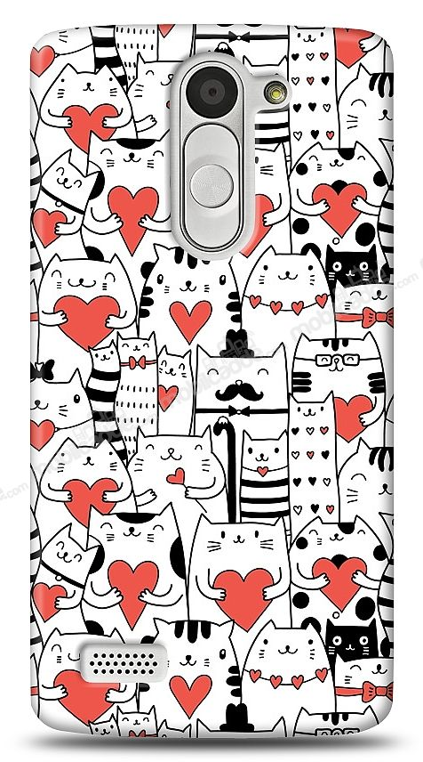 LG L Bello Love Cats Kılıf