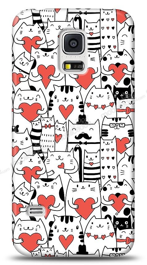 Samsung i9600 Galaxy S5 Love Cats Kılıf