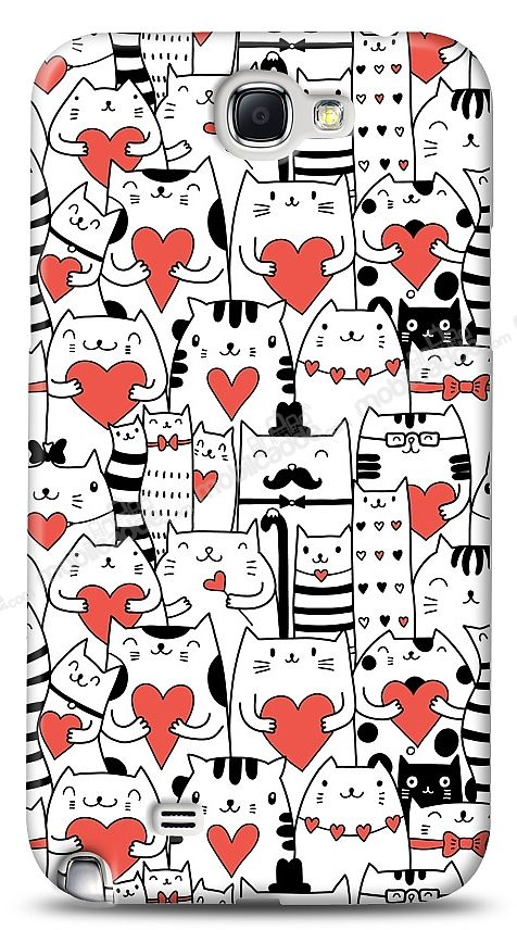 Samsung N7100 Galaxy Note 2 Love Cats Kılıf