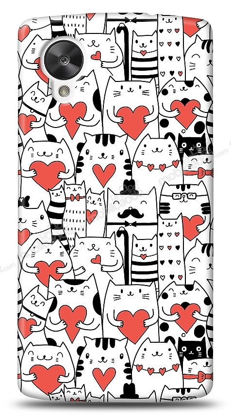 LG Nexus 5 Love Cats Kılıf