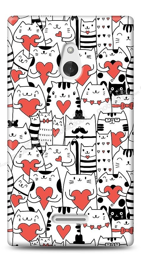 Nokia XL Love Cats Kılıf