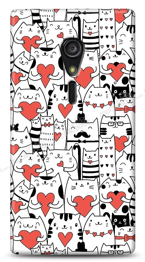 Sony Xperia ion LT28i Love Cats Kılıf