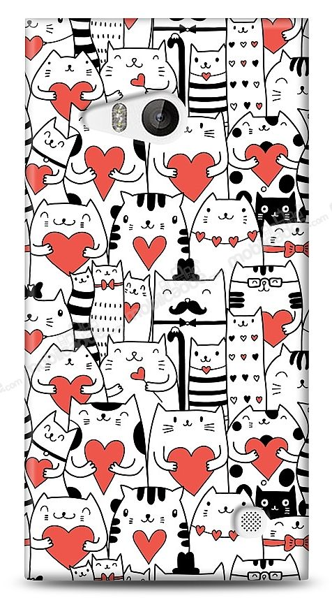 Nokia Lumia 730 Love Cats Kılıf