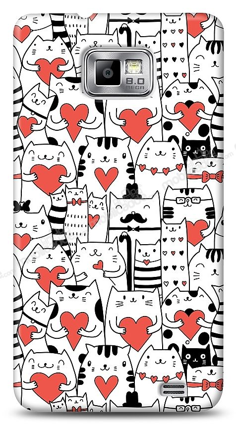 Samsung i9100 Galaxy S2 Love Cats Kılıf