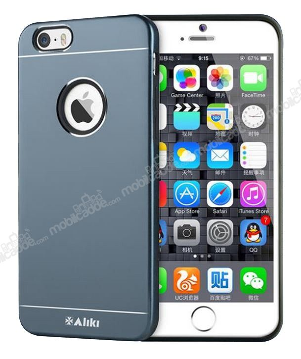 Alıkı Prady Series iPhone 6 / 6S Metal Dark Silver Kılıf