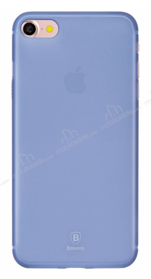 Baseus Frosting iPhone 7 Ultra İnce Dark Blue Rubber Kılıf