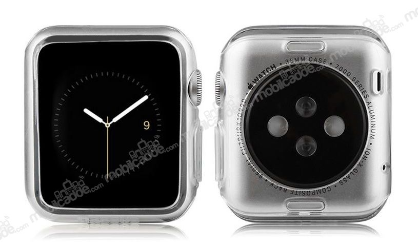 Baseus Simple Series Apple Watch / Watch 2 Şeffaf Silikon Kılıf (42 mm)