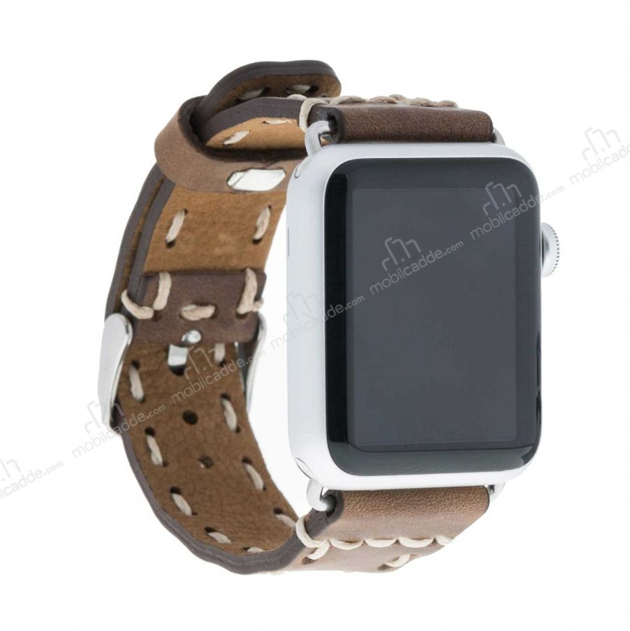 Bouletta Apple Watch Gerçek Deri Kordon G6 (38 mm)