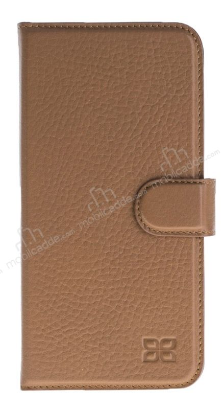 Bouletta Magic Wallet iPhone 7 Plus / 8 Plus Standlı Kapaklı Floater Tan Gerçek Deri Kılıf