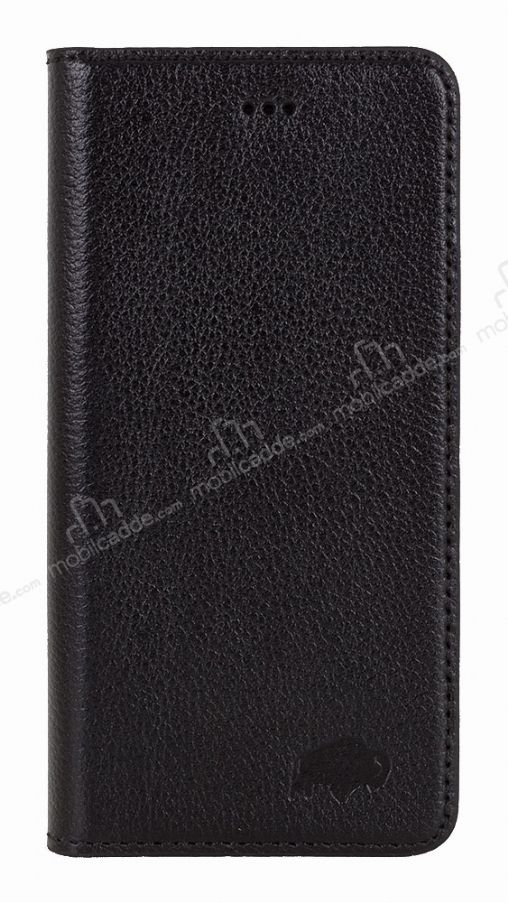 Burkley Book Folio iPhone 6 / 6S Gerçek Deri Rolex Black Rubber Kılıf