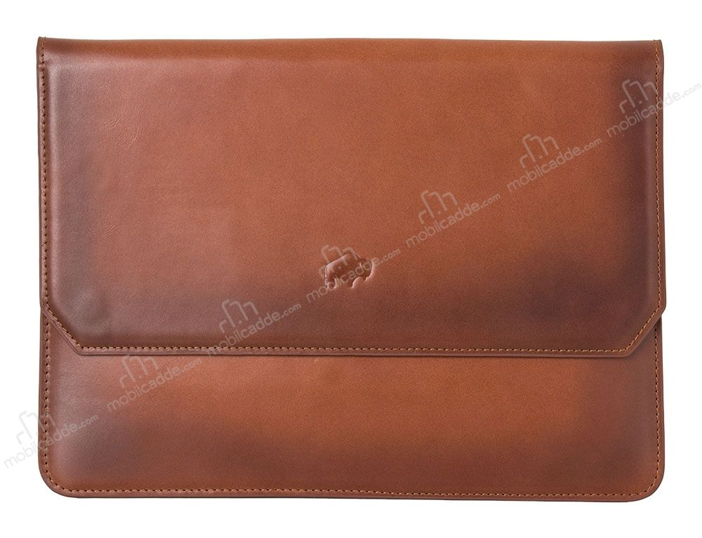 Burkley Cover Vintage Bag Apple iPad Pro 12.9 Special Burned Tan Gerçek Deri Kılıf