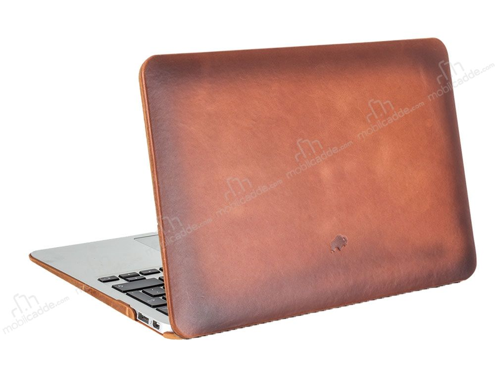 Burkley Hardshell Macbook Air 13 inç Special Burnished Gerçek Deri Kılıf
