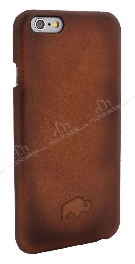 Burkley Snap On iPhone 6 / 6S Gerçek Deri Dark Brown Rubber Kılıf