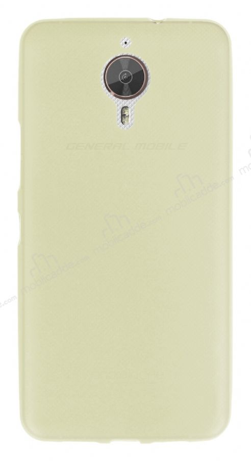 Dafoni Air Slim General Mobile GM 5 Plus Ultra İnce Mat Gold Silikon Kılıf
