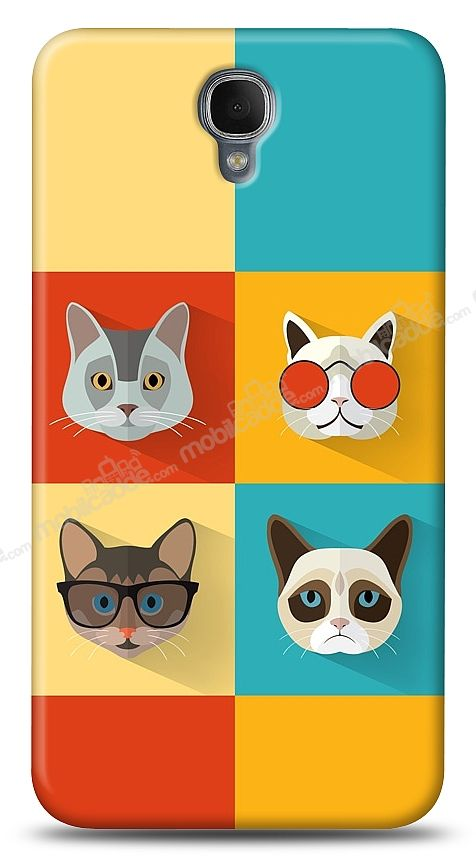 Alcatel One Touch idol 2 OT-6037 Four Cats Kılıf