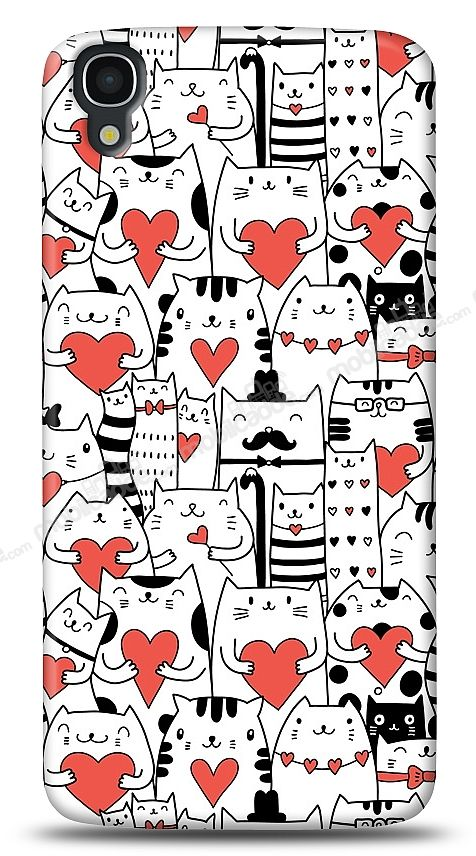 Alcatel OneTouch idol 3 5.5 Love Cats Kılıf