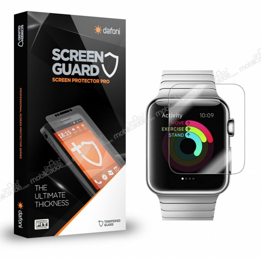 Dafoni Apple Watch / Watch 2 Tempered Glass Premium Cam Ekran Koruyucu (38 mm)