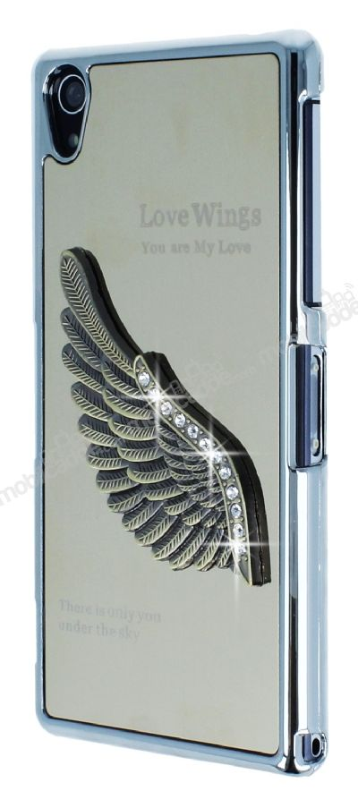 Dafoni Eagle Wings Sony Xperia Z2 Gold Metal Rubber Kılıf