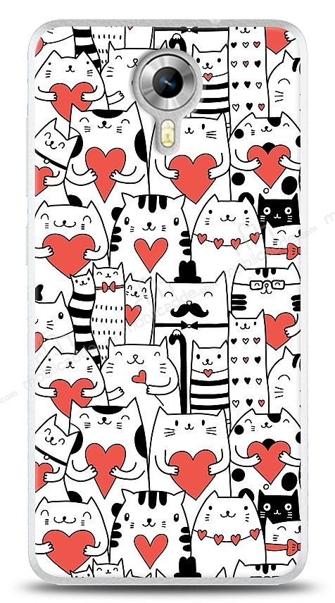 General Mobile Android One Love Cats Kılıf