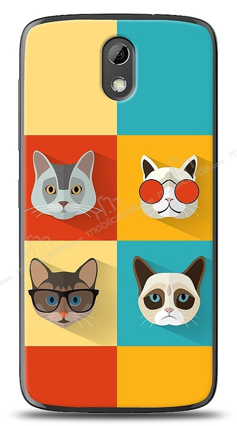 HTC Desire 526 Four Cats Kılıf