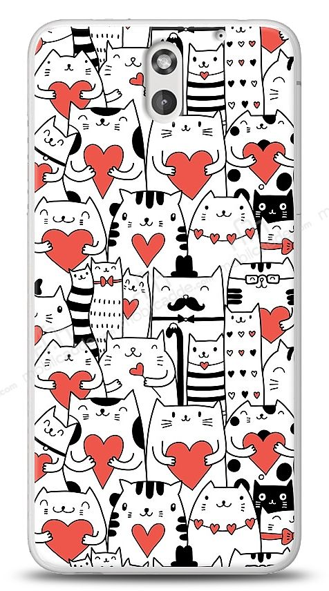 HTC Desire 610 Love Cats Kılıf