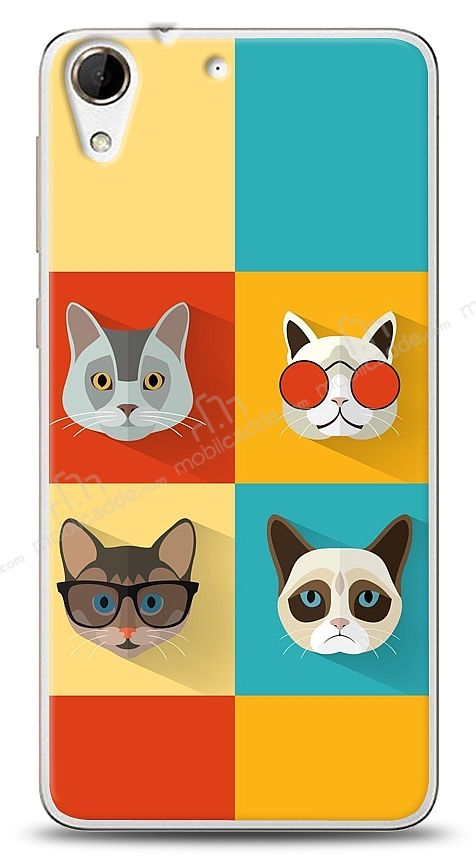 HTC Desire 728G Four Cats Kılıf