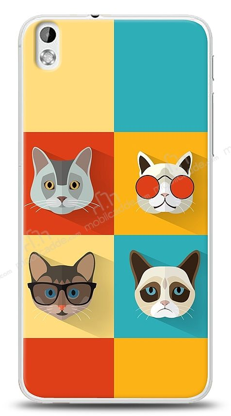 HTC Desire 816 Four Cats Kılıf