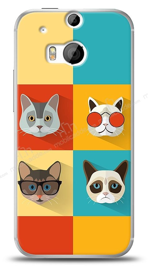 HTC One M8 Four Cats Kılıf