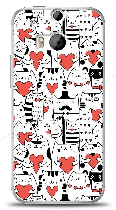 HTC One M8 Love Cats Kılıf