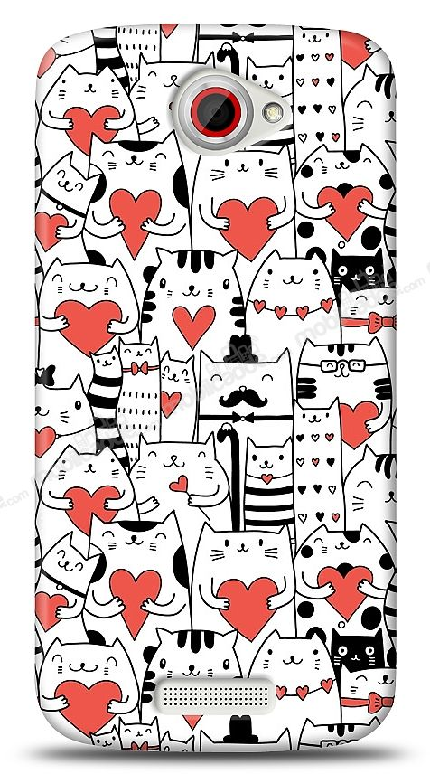 HTC One S Love Cats Kılıf
