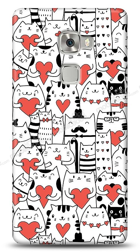 Huawei Ascend Mate S Love Cats Kılıf