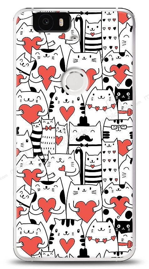 Huawei Nexus 6P Love Cats Kılıf