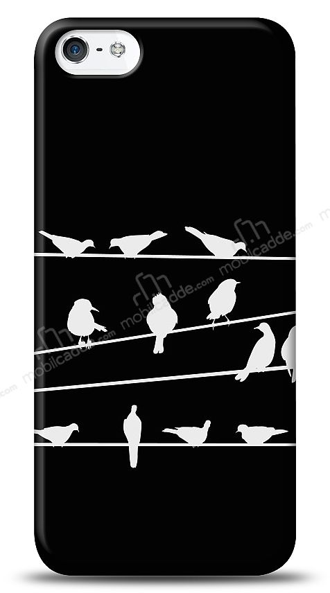 iPhone SE / 5 / 5S Birds Black Kılıf