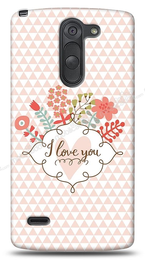 LG G3 Stylus I Love You Kılıf