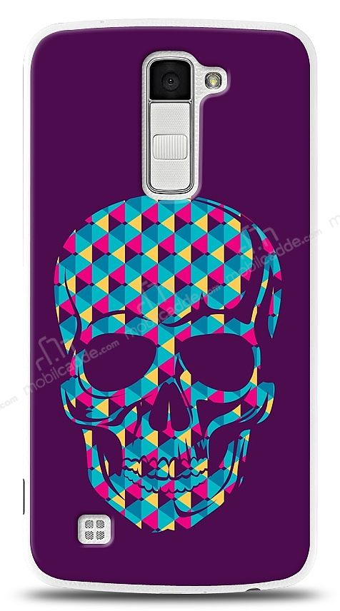 LG K10 Color Skull Purple Kılıf