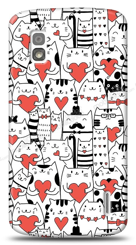 LG Nexus 4 Love Cats Kılıf