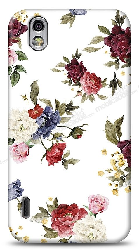 LG Optimus Black Vintage Flowers Kılıf
