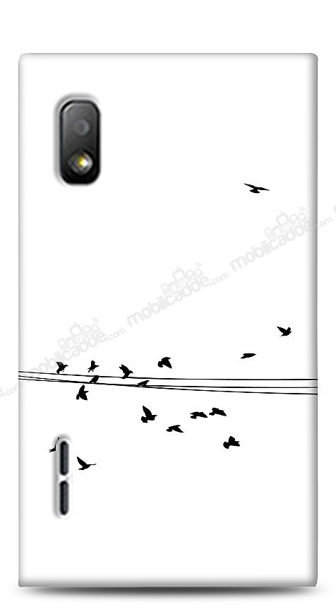 LG Optimus L5 Flying Birds Kılıf