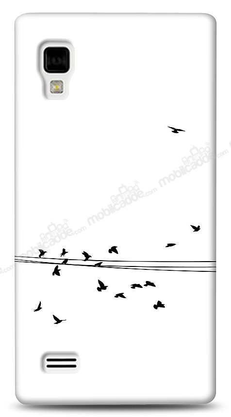 LG Optimus L9 P760 Flying Birds Kılıf