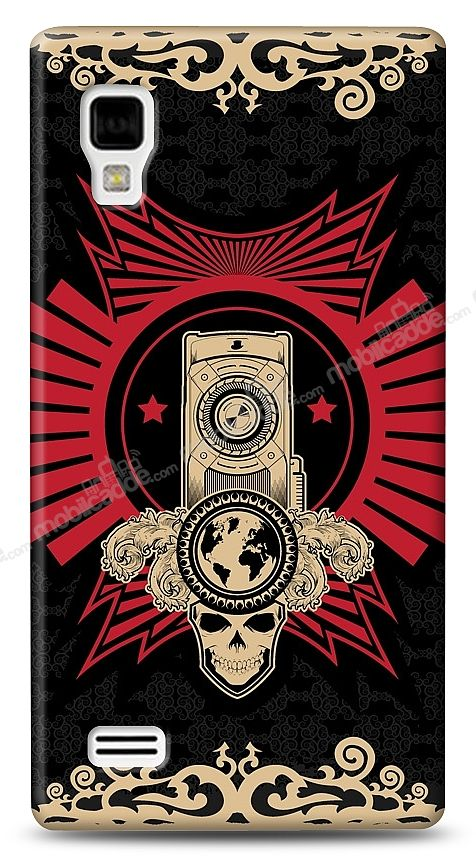 LG Optimus L9 P760 Skull Nation Kılıf