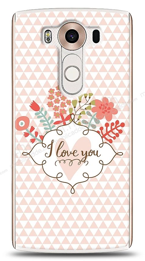 LG V10 I Love You Kılıf