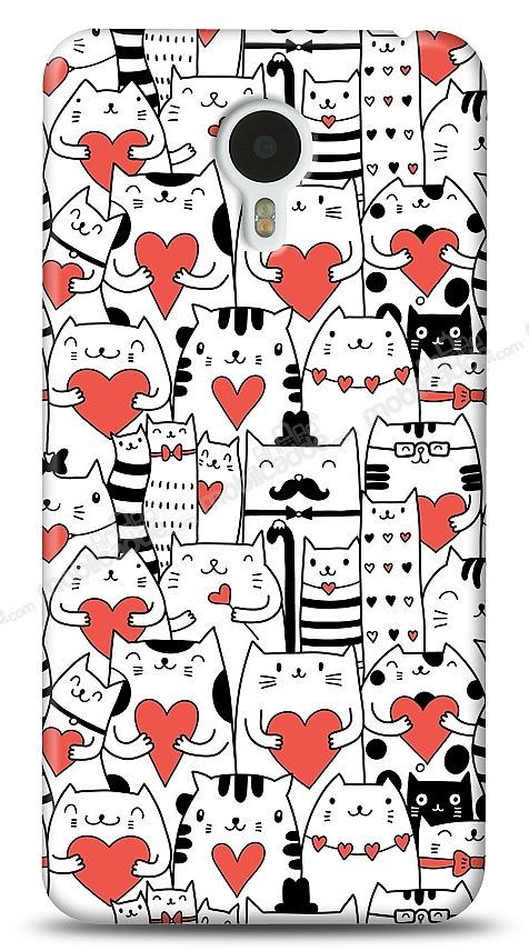 Meizu M1 note Love Cats Kılıf