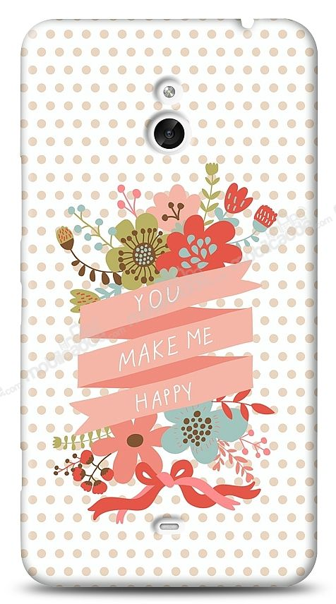 Nokia Lumia 1320 You Make Me Happy Kılıf