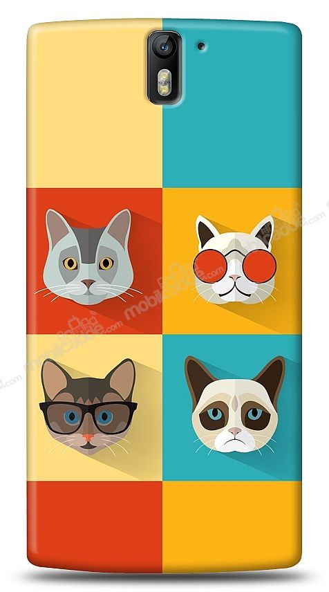 OnePlus One Four Cats Kılıf