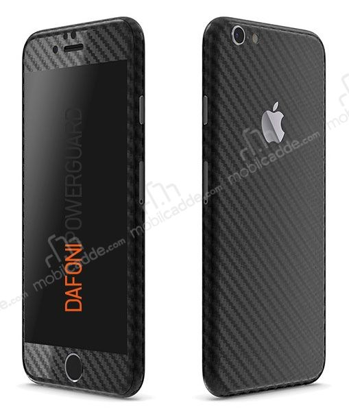 Dafoni PowerGuard iPhone 6 Plus Ön + Arka + Yan Karbon Fiber Kaplama Sticker