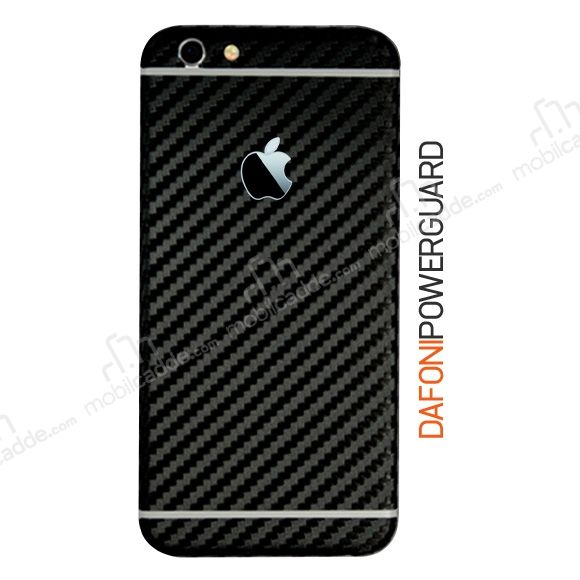 Dafoni PowerGuard iPhone 6S Arka Karbon Fiber Kaplama Sticker